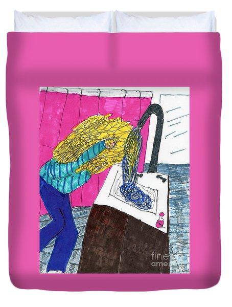 Hair Wash Duvet Cover by Elinor Rakowski
