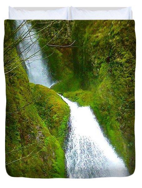 Hakeena Falls Long Duvet Cover by Susan Garren