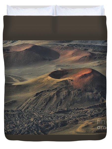 Haleakala Caldera Maui Hawaii Duvet Cover by Teresa Zieba