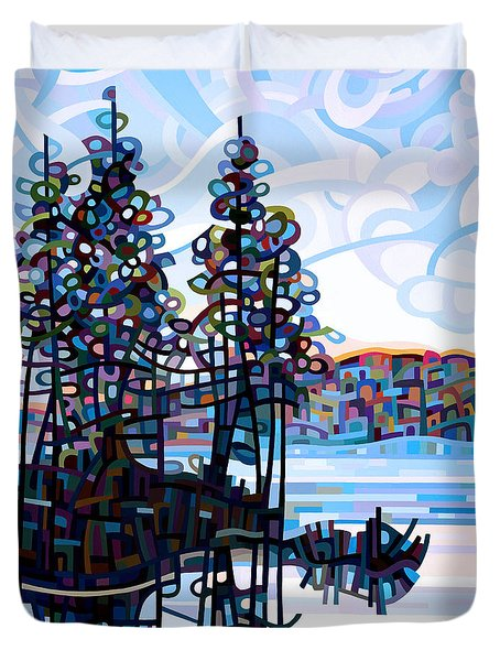 Haliburton Morning Duvet Cover by Mandy Budan