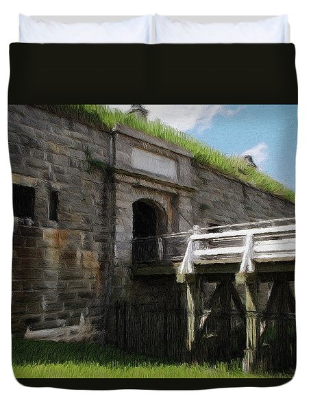 Halifax Citadel Duvet Cover by Jeff Kolker