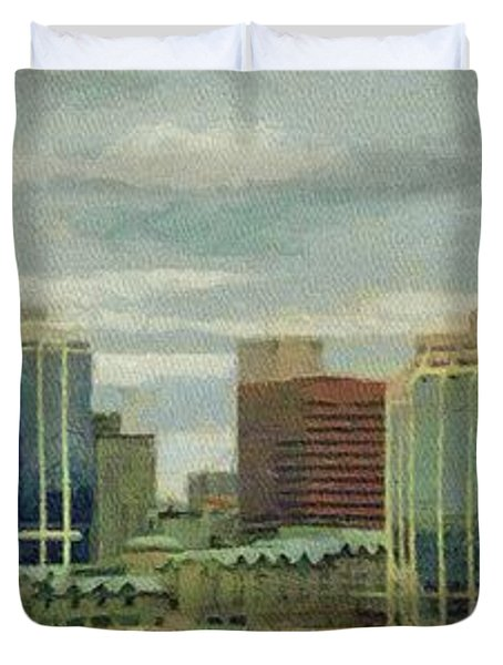 Halifax From The Harbour Duvet Cover by Jeff Kolker