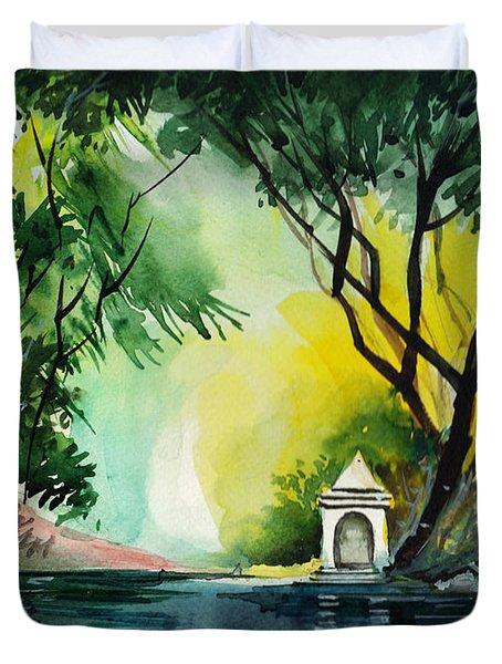 Halo Duvet Cover by Anil Nene