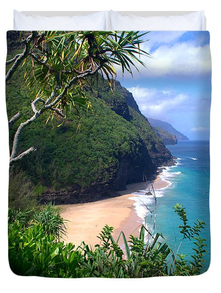 Hanakapiai Beach Duvet Cover by Brian Harig