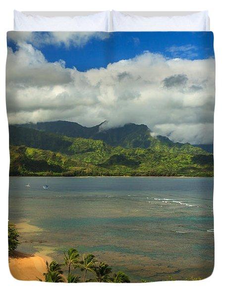Hanalei Bay Duvet Cover by James Eddy