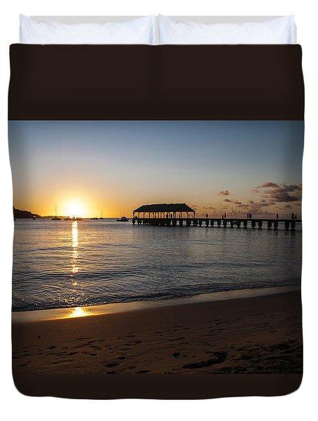 Hanalei Bay Sunset Duvet Cover by Brian Harig