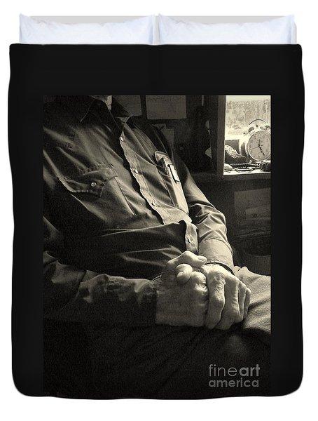 Hands Of Time Duvet Cover by Joe Jake Pratt
