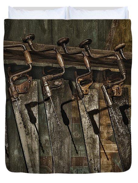 Handy Man Tools Duvet Cover by Susan Candelario