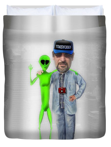 Hangin With G Duvet Cover by Mike McGlothlen