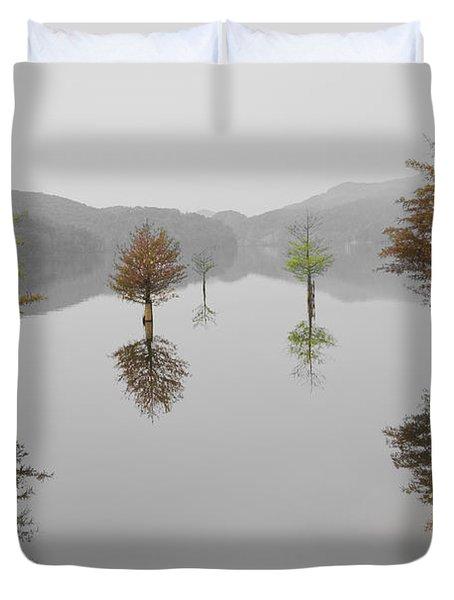 Hanging Garden Duvet Cover by Debra and Dave Vanderlaan