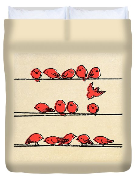 Hanging Out Duvet Cover by Eric Fan