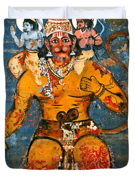 Hanuman Duvet Cover by Kurt Van Wagner