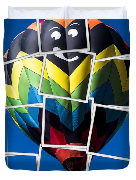 Happy Balloon Ride Duvet Cover by Edward Fielding