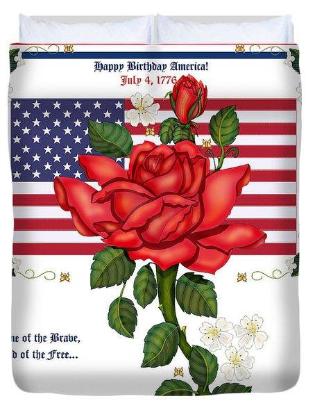 Happy Birthday America Duvet Cover by Anne Norskog