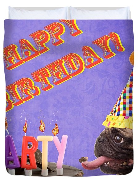 Happy Birthday Card Duvet Cover by Edward Fielding
