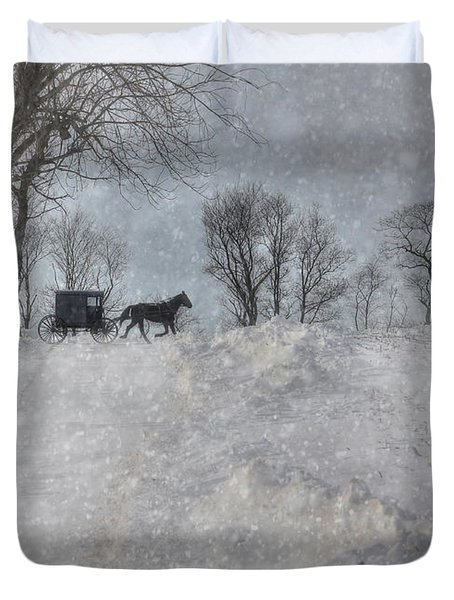 Happy Holidays From Pa Duvet Cover by Lori Deiter
