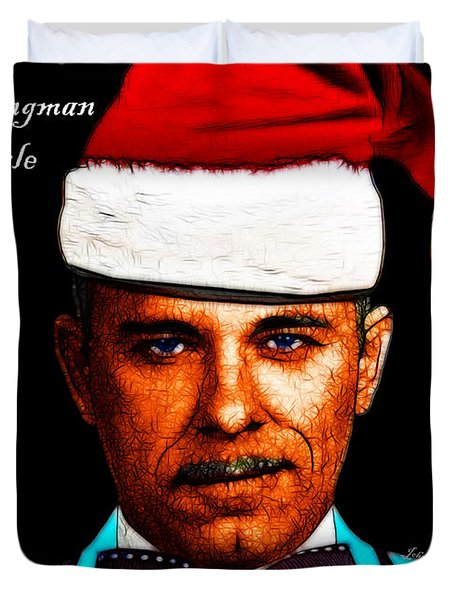 Happy Holidays Gangman Style - John Dillinger 13225 Duvet Cover by Wingsdomain Art and Photography