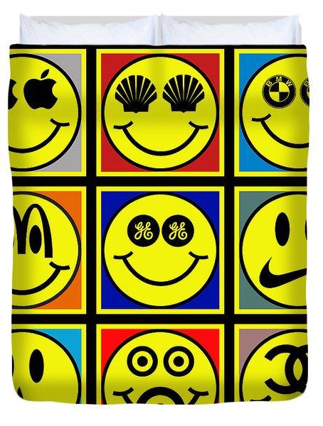 Happy Logos Duvet Cover by Tony Rubino