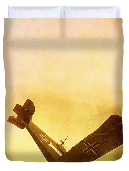 Hard Landing Duvet Cover by Edward Fielding