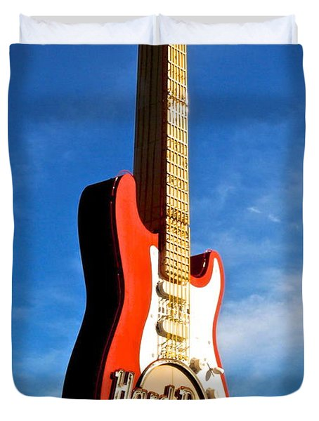 Hard Rock Cafe Cleveland Duvet Cover by Frozen in Time Fine Art Photography