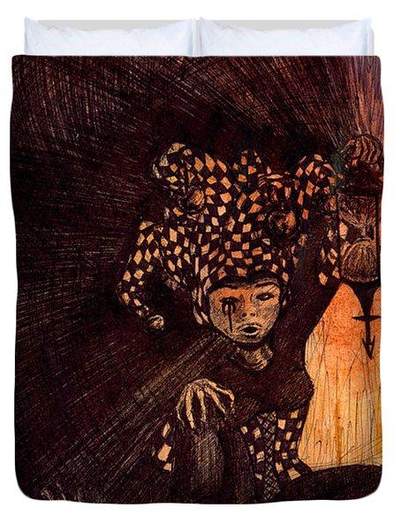 Hermetic Fool Duvet Cover by Kd Neeley