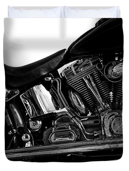 Harley Davidson  Military  Duvet Cover by Bob Orsillo