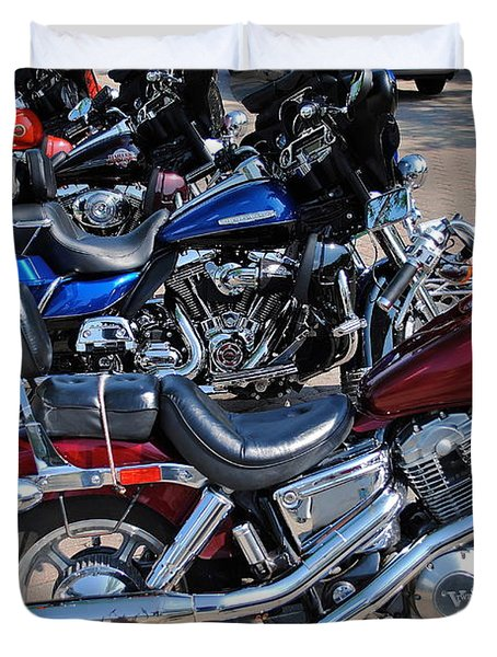 Harley Davidson Duvet Cover by Frozen in Time Fine Art Photography