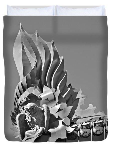 Harold Washington Library Chicago Duvet Cover by Christine Till