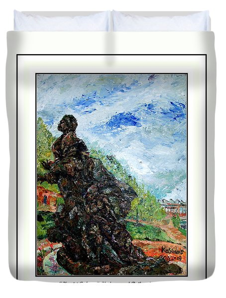 Harriet Tubman-underground Railroad Duvet Cover by Keith OBrien Simms