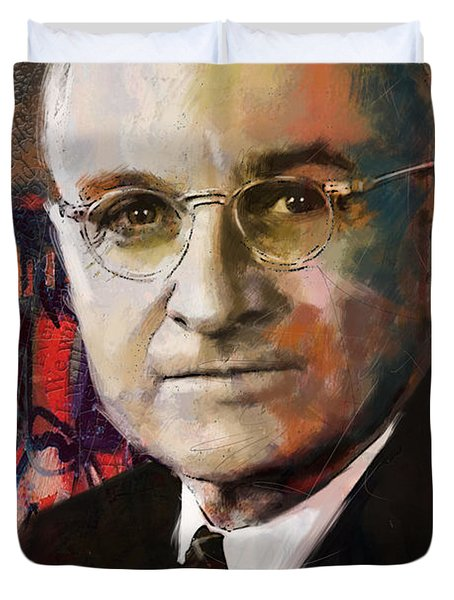Harry S. Truman Duvet Cover by Corporate Art Task Force