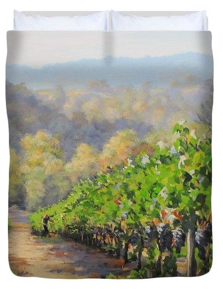 Harvest Morning Duvet Cover by Karen Ilari