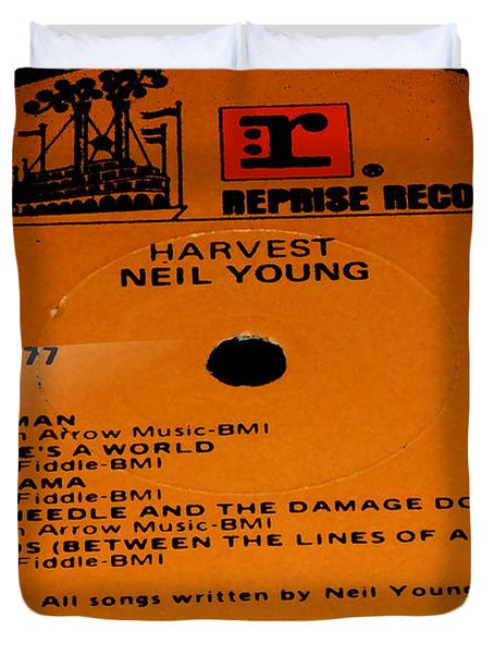 Harvest Neil Young Side 2 Duvet Cover by Marcello Cicchini
