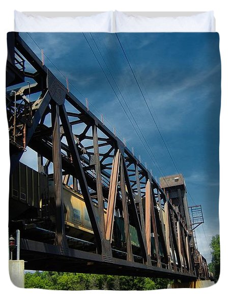 Hastings Train Bridge 2 Duvet Cover by Todd and candice Dailey