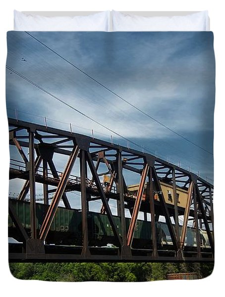 Hastings Train Bridge 3 Duvet Cover by Todd and candice Dailey