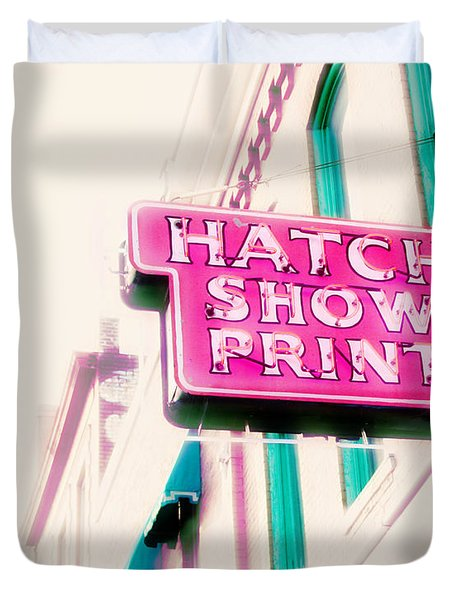 Hatch Show Print Duvet Cover by Amy Tyler