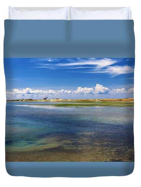 Hatches Harbor Duvet Cover by Bill  Wakeley