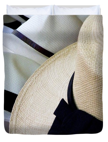 Hats Off To You Duvet Cover by Lainie Wrightson