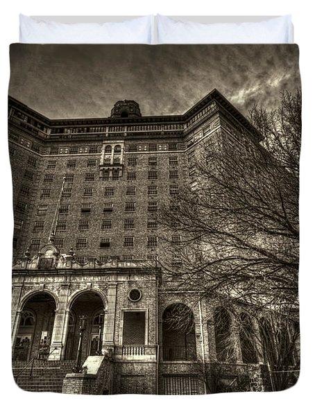 Haunted Baker Hotel Duvet Cover by Jonathan Davison