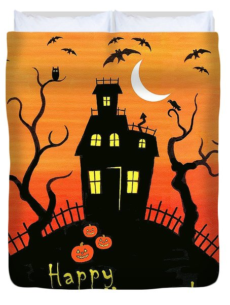 Haunted House Part One Duvet Cover by Linda Mears