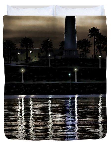 Haunted Lighthouse Duvet Cover by Mariola Bitner