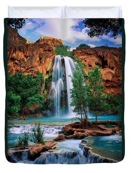 Havasu Cascades Duvet Cover by Inge Johnsson