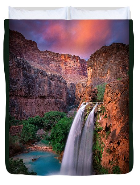 Havasu Falls Duvet Cover by Inge Johnsson