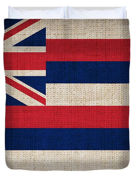 Hawaii State Flag  Duvet Cover by Pixel Chimp