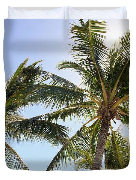 Hawaiian Palm Trees Duvet Cover by Brandon Tabiolo