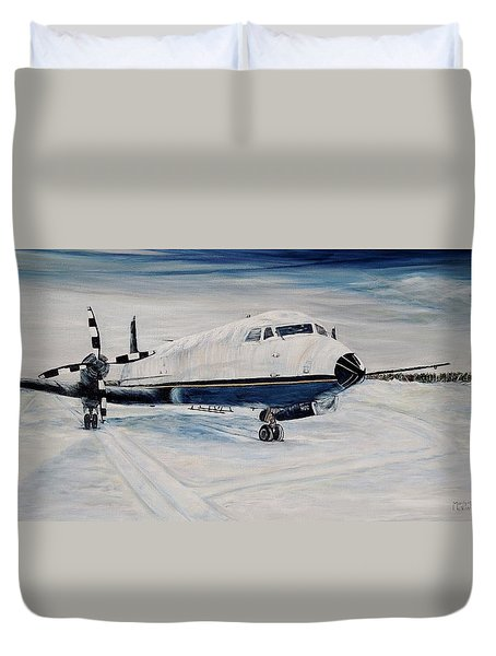 Hawker - Waiting Out The Storm Duvet Cover by Marilyn  McNish