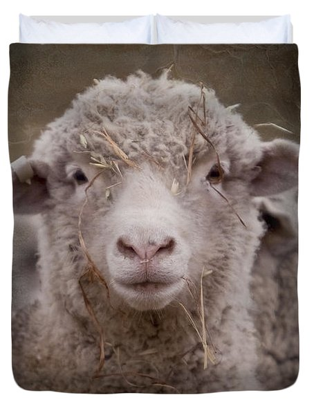 Hay Ewe Duvet Cover by Michelle Wrighton