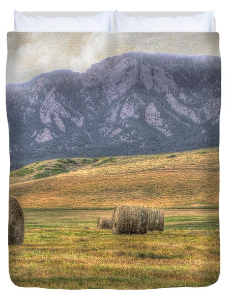 Hay There Duvet Cover by Juli Scalzi
