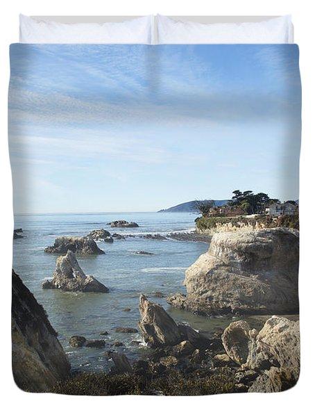 Hazy Lazy Day Pismo Beach California Duvet Cover by Barbara Snyder
