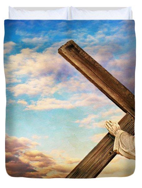 He has Risen Duvet Cover by Darren Fisher