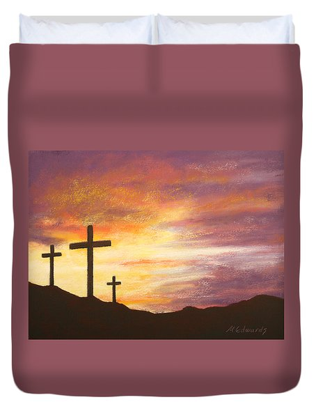 He is Risen Duvet Cover by Marna Edwards Flavell